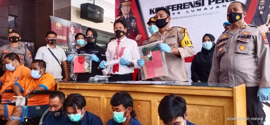 Polres Lumajang di Februari 2021 Ungkap 9 Kasus dan Obral Timah Panas