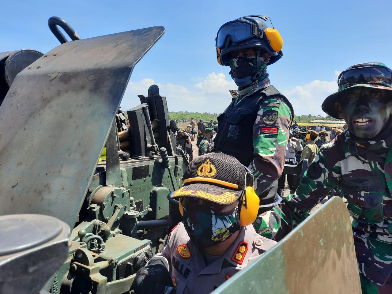 Kapolres Lumajang Takjub Latihan Perang TNI AD Usir Pengacau NKRI