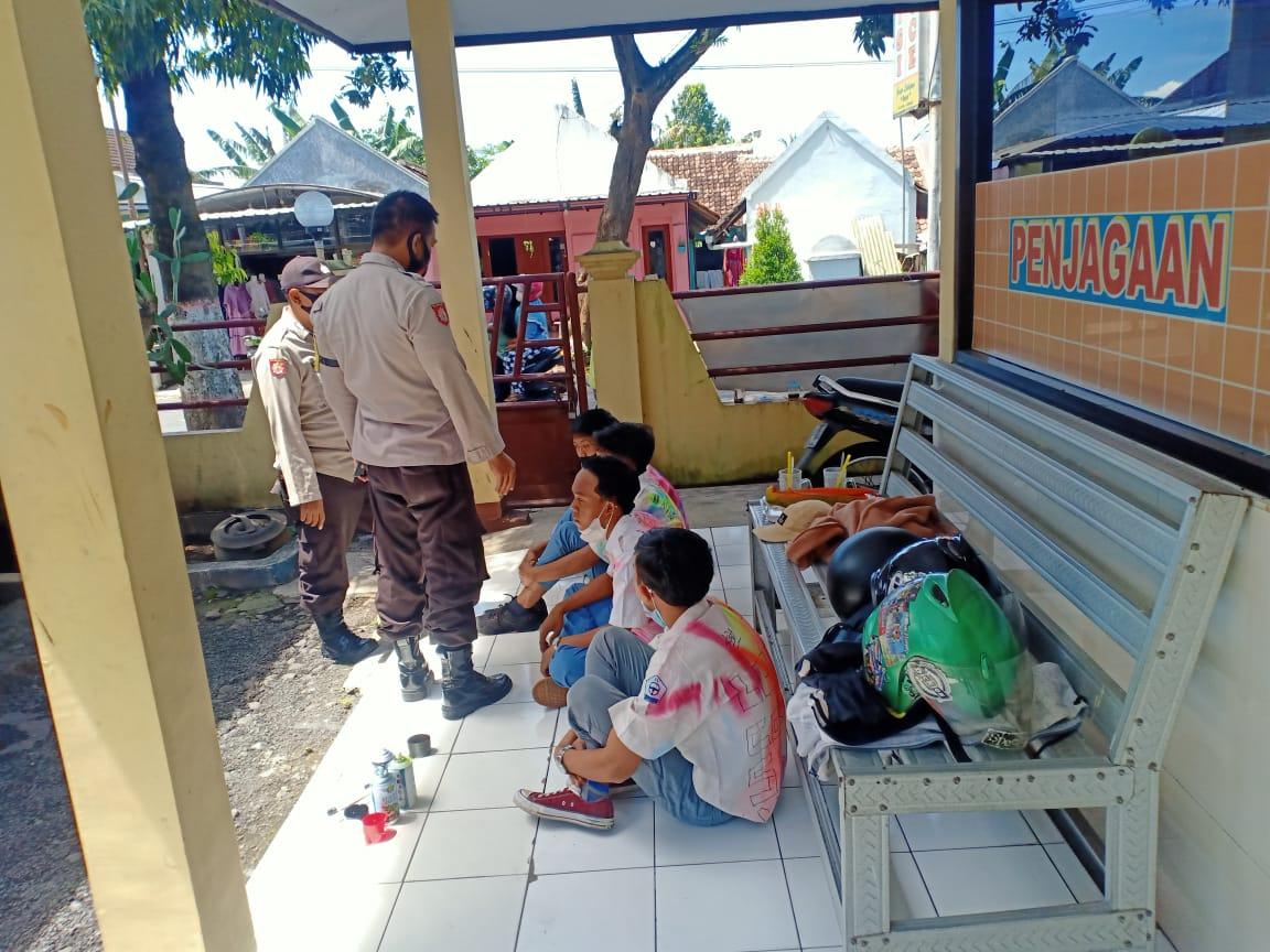 5 Pelajar Konvoi Kelulusan Diamankan Polsek Kota Lumajang