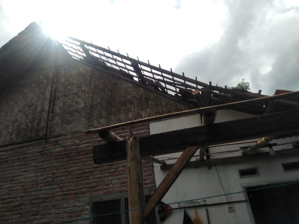 Puting Beliung Porak Porandakan Puluhan Rumah di Pasrujambe Lumajang