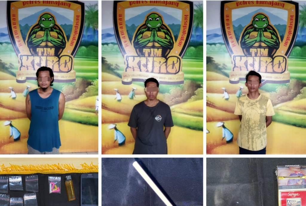 3 Pemuda Randuagung Lumajang Diringkus Polisi Jualan Sabu
