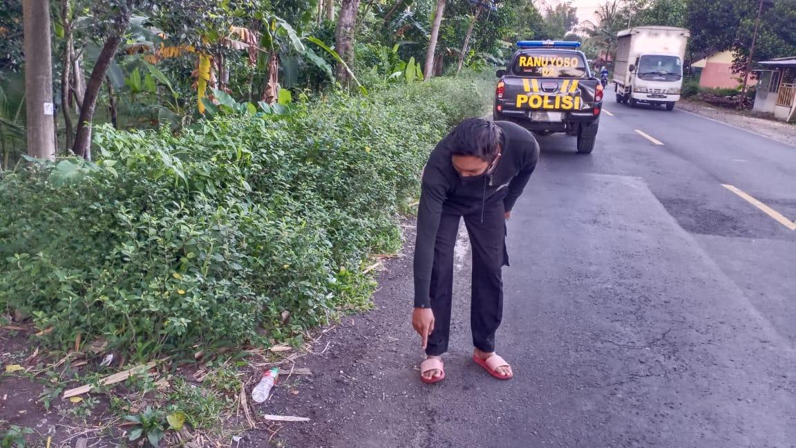 Warga Desa Kalidilem Kena Begal di Jalan Raya Ranuyoso Lumajang