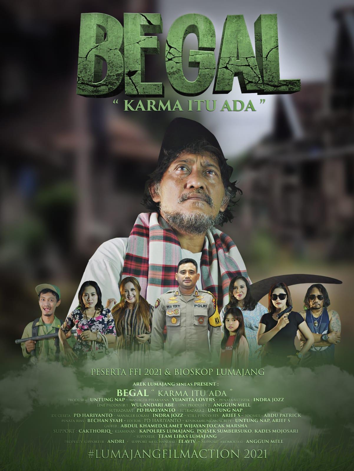 Film Berkisah Begal Karya Sineas Lumajang  ikuti FFI 2021