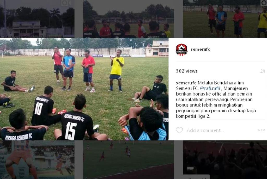 Menang Lawan Persewangi, Pemain Semeru FC diberi Bonus