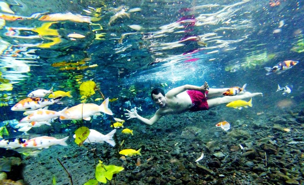 Foto Underwater Bikin Pemandian Tirtosari Viral dan Didatangi Pengunjung Kembali