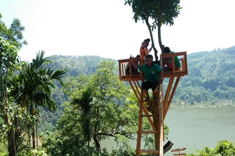 Rumah Pohon Wisata Ranu Bedali Jadi Primadona Berfoto Pengunjung