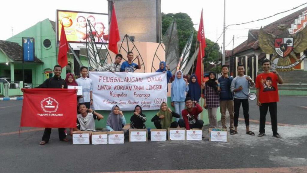 Solidaritas Longsor Ponorogo, GSNI Galang Dana di Adipura Lumajang