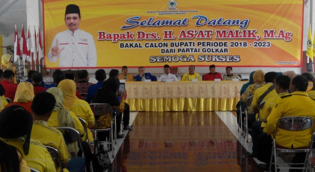 Didampingi PDIP dan Demokrat, As'at Malik Pinang Golkar Bergabung Koalisi