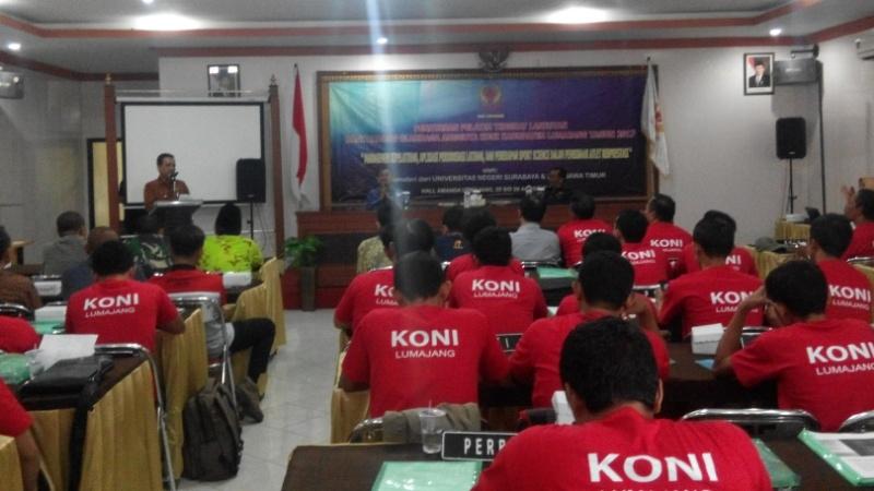 Bupati As'at Malik Buka Penataran Pelatih KONI Kabupaten Lumajang