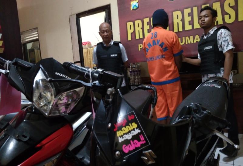 Goni Warga Salak, Penadah Sepeda Motor Hasil Membegal Diciduk Polisi