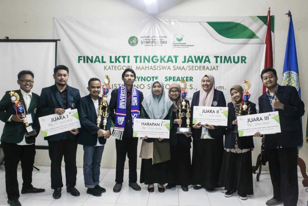 Inilah Para Juara LKTI tingkat Jawa Timur 2019 di IAI Syarifuddin