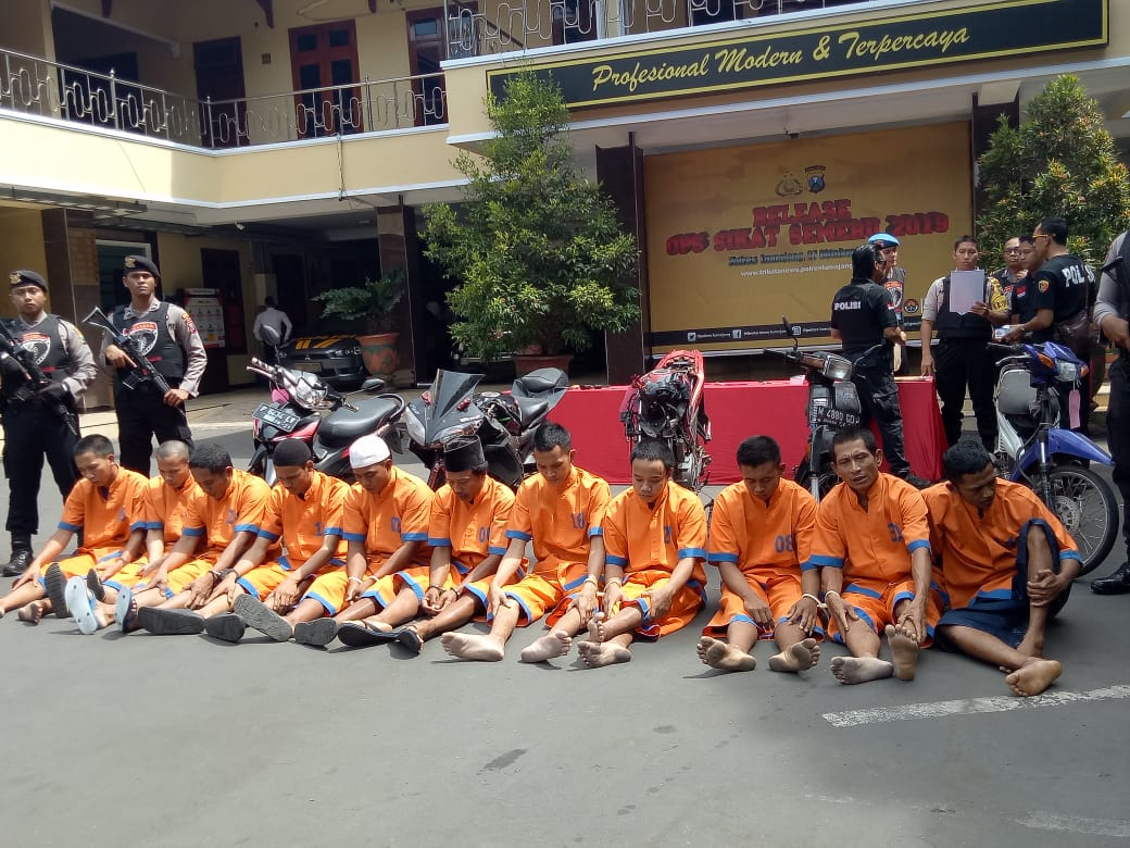 Tim Cobra Polres Lumajang Tangkap 12 Pelaku Kejahatan