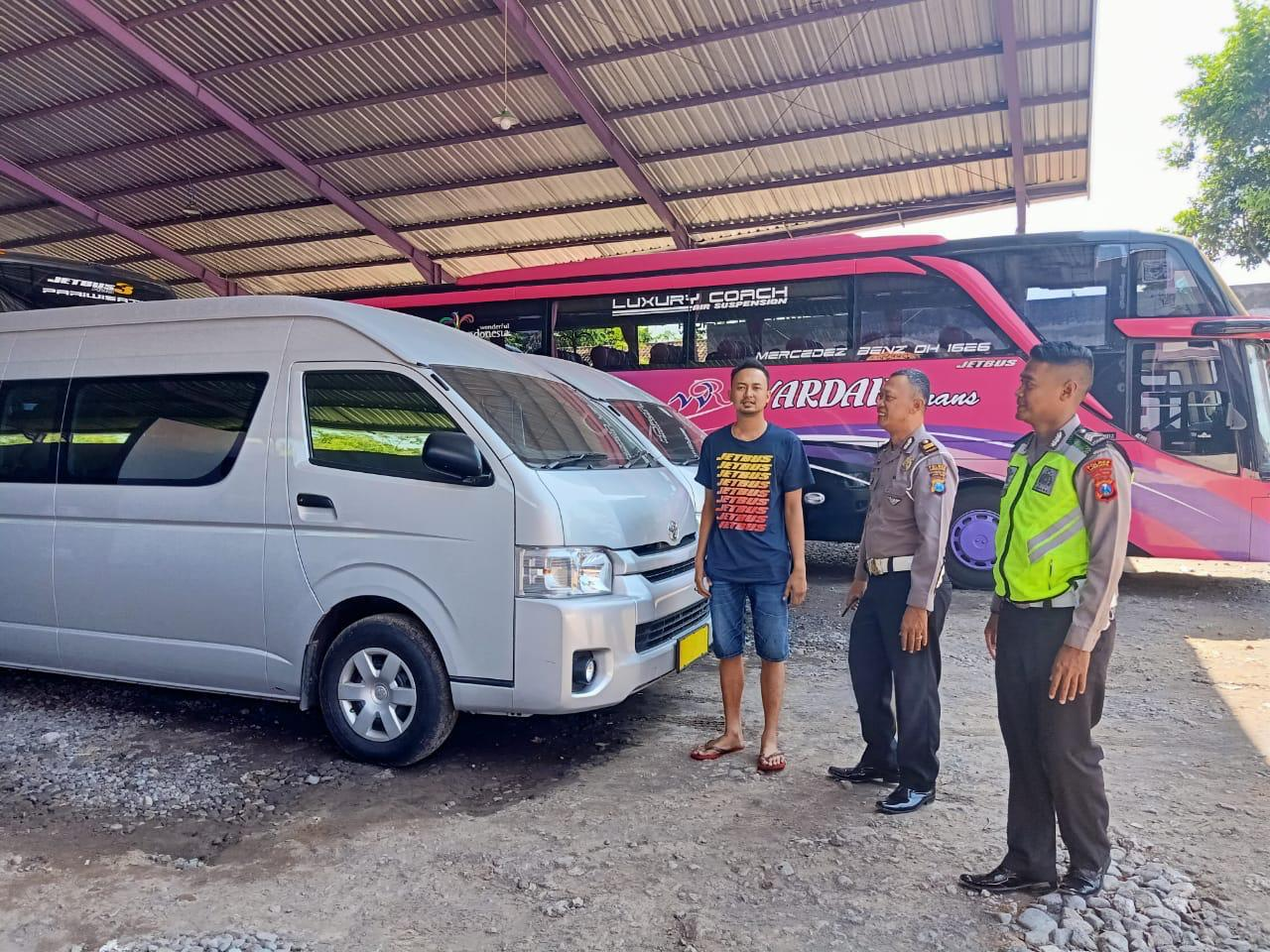 Polisi Pantau PO Bus, Agen Tiket, Travel dan Rental Mobil Massa People Power