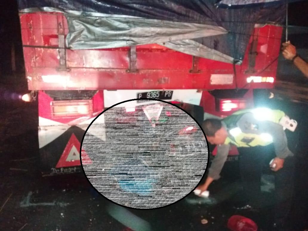 Asmad  Sukosari Meninggal Usai Tabrak Truk Berhenti di JLT Lumajang