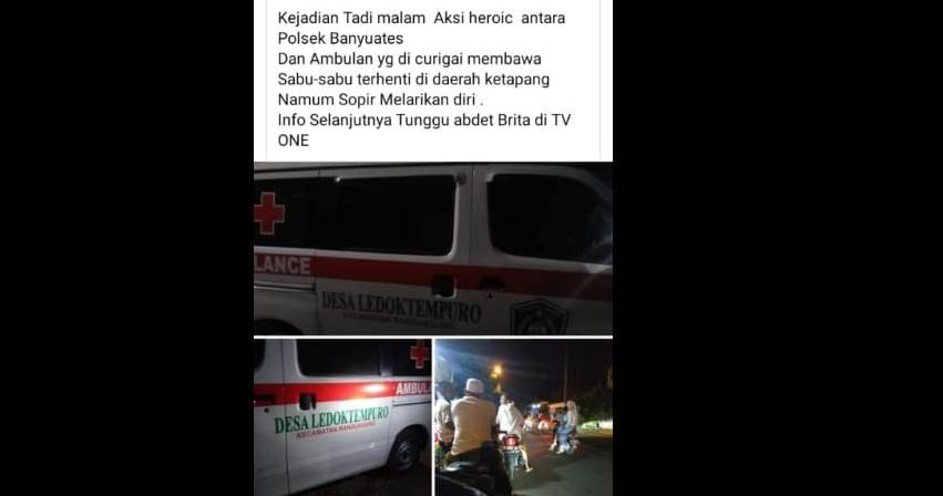 Viral..! Ambulance Desa Lumajang Bawa Sabu Diamankan di Polres Sampang