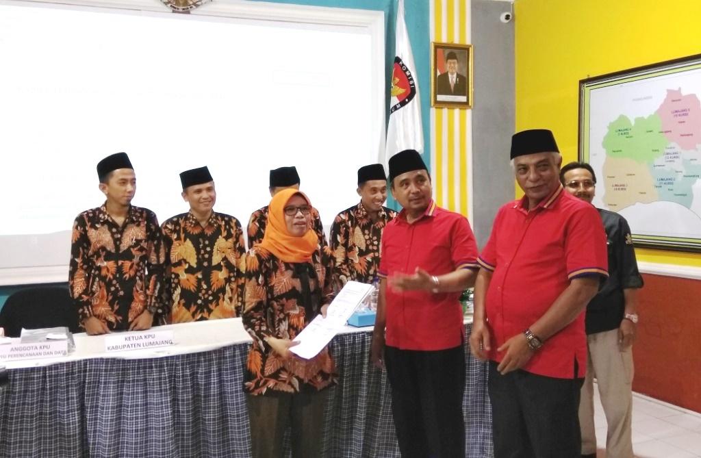 Lumajang Guyub Rukun Sejahtera Bermartabat, Pasangan As'at-Thoriq Daftar ke KPU