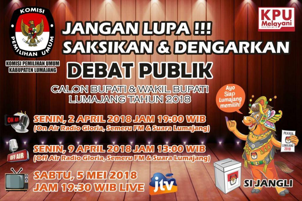 Yuk..!! Ikuti dan Dengarkan Debat Kandidat Cabup Lumajang, Nanti Malam