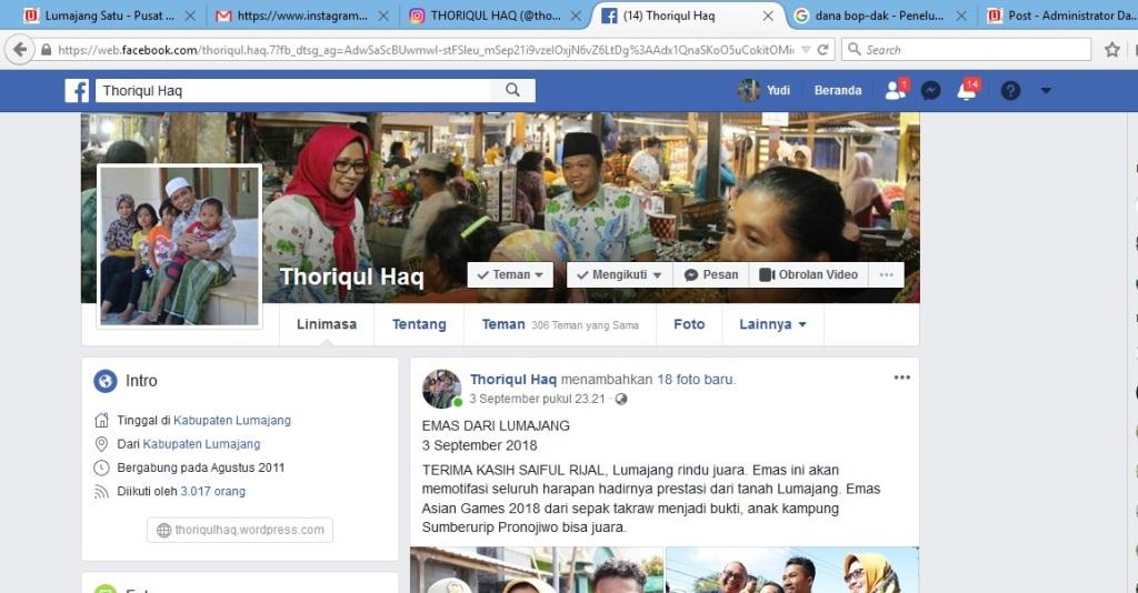 facebook cak Thoriq
