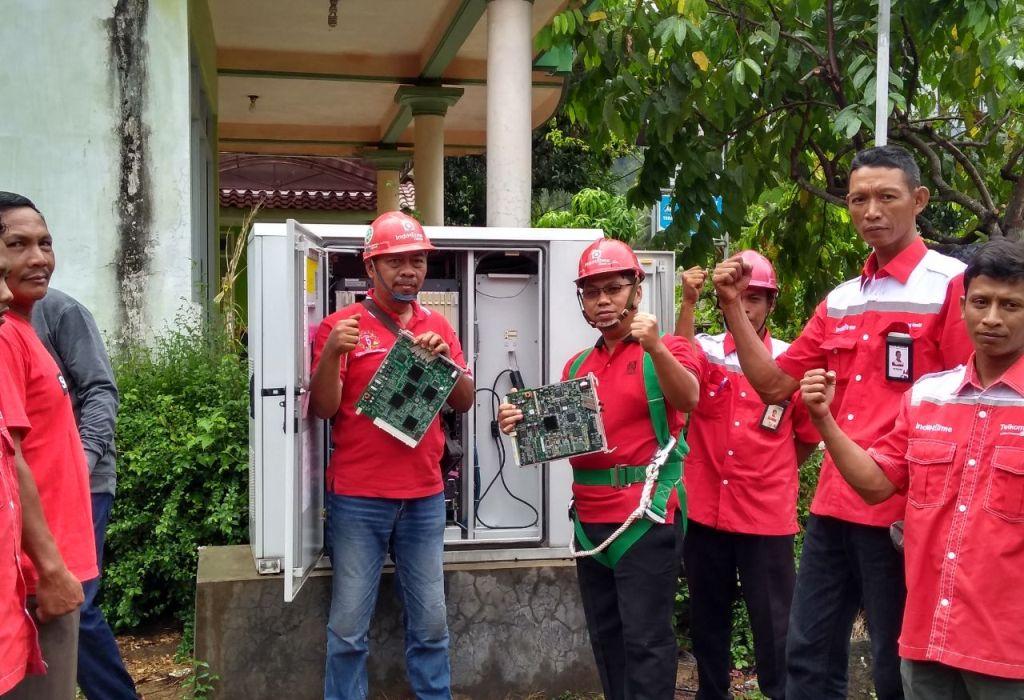 Mantab! Tempursari Sudah Terhubung Jaringan Fiber Optic Telkom