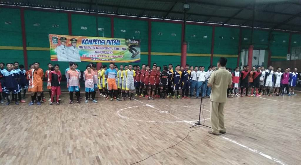 23 Tim Futsal Bertanding di Kompetisi Pelajar Dispora Lumajang
