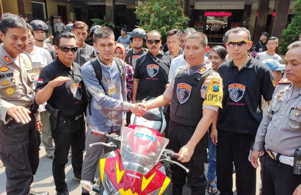 Honda CBR 250 Saat Razia di Desa Kalidilem Murni Hasil Kejahatan