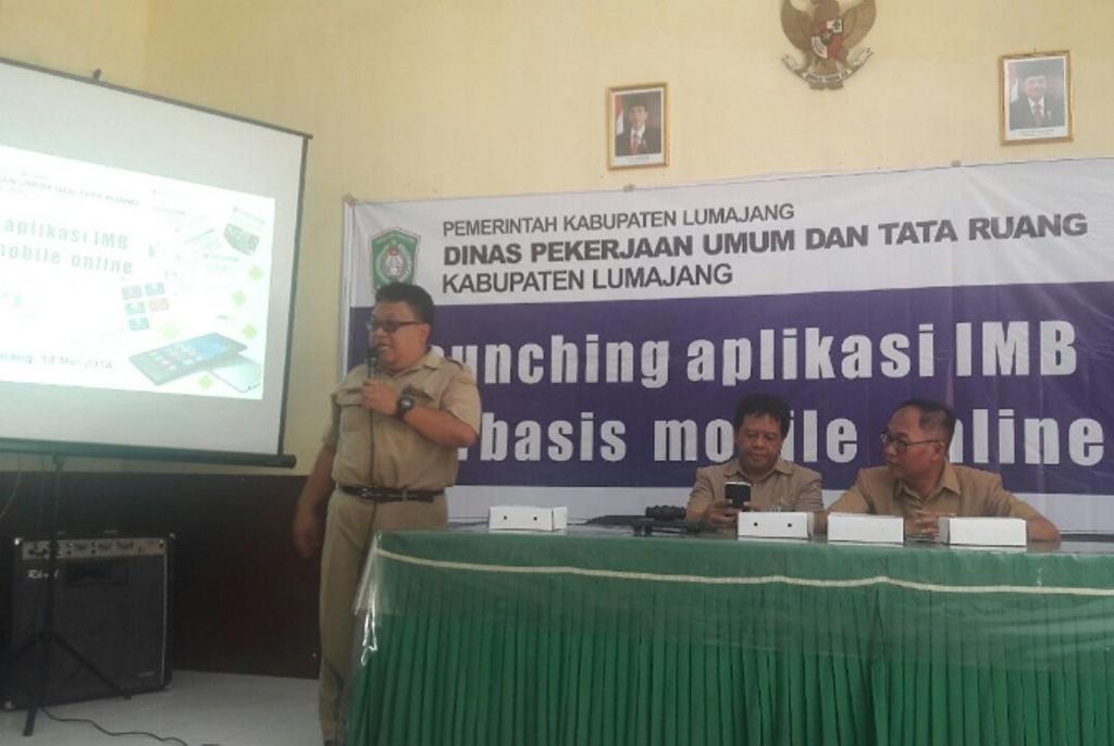 Menuju E-Gov, DPUTR Lumajang Launching Aplikasi Online IMB