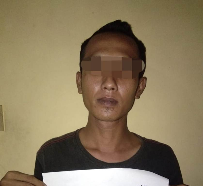 Asyik Hisap Rokok, Maling Laptop Tertangkap Warga Karanganyar Lumajang