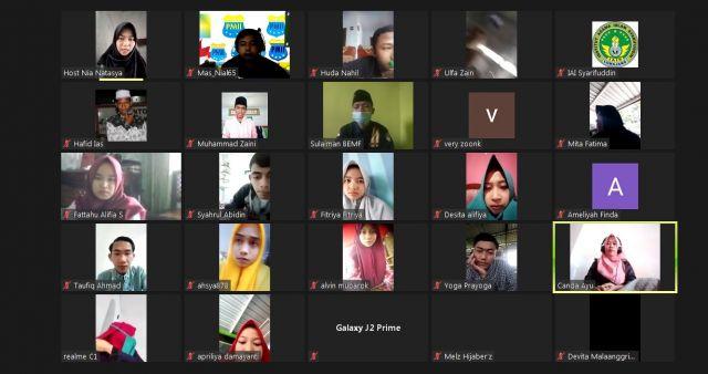 Webinar BEMF Tarbiyah IAI Syarifuddin Lumajang Bahas Esensi Mahasiswa