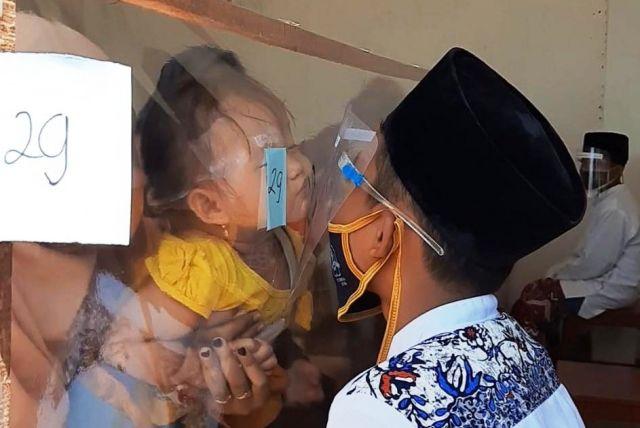 Ponpes Darun Najah Terapkan Protokol Kesehatan Pengiriman Wali Santri
