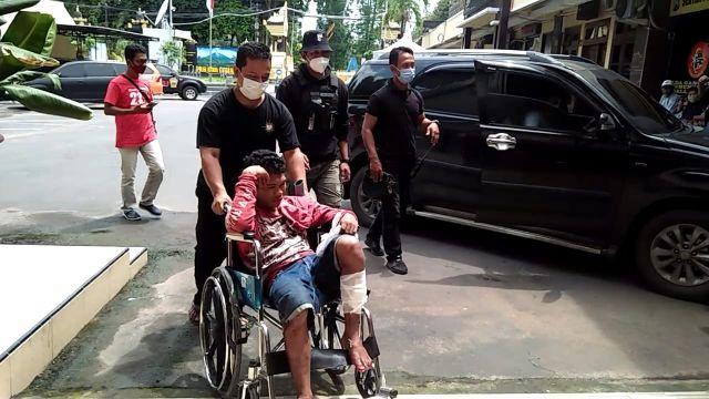 Maling Motor asal Buwek Meringgis Usai di Door Polisi Kakinya