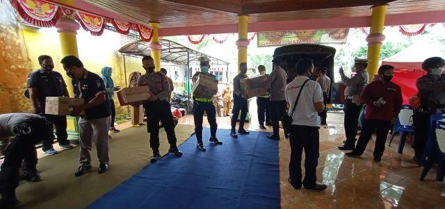 Kapolres Lumajang Salurkan Bantuan ke Daerah Bencana Gunung Semeru