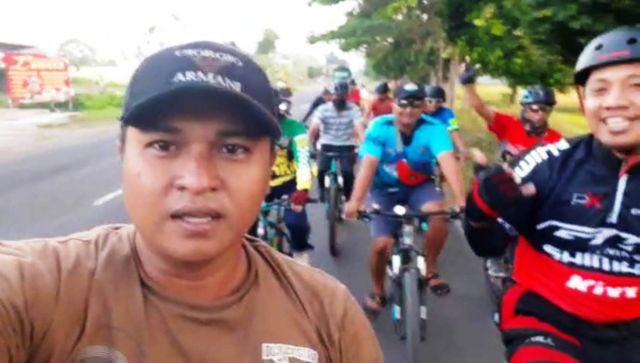 DWTCC Sambut Haornas 2020 Bersepeda Lalui 5 Kecamatan Lumajang Timur