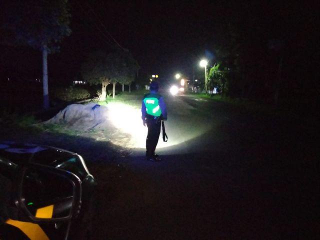 Polsek Sukodono Patroli Jalur dan Pemukiman Rawan Kejahatan Lumajang