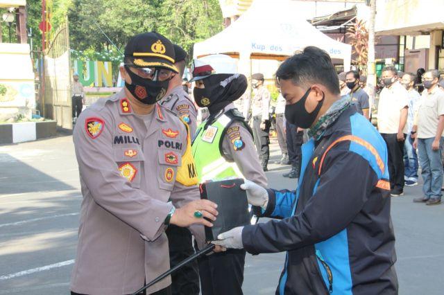 Polres Lumajang Terus Kampanye Penggunaan Masker ke Masyarakat