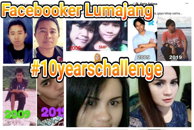 Video : Inillah Facebooker Lumajang Viral Ikutan #10yearschallenge