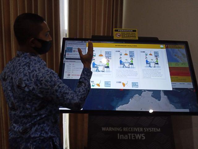 WRS Newgen Alat Canggih BPBD Lumajang Deteksi Gempa