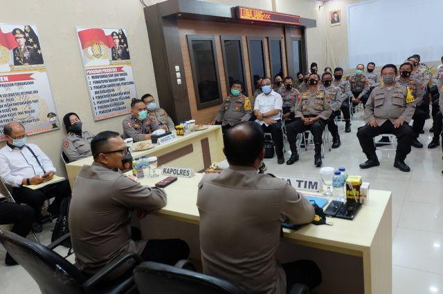 Tim Wasrik Itwasda Polda Jatim Kunjungi Polres Lumajang