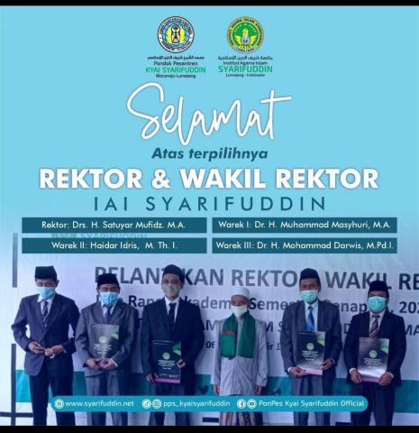 KH. Satuyar Mufidz Dilantik Jadi Rektor IAI Syarifuddin Lumajang