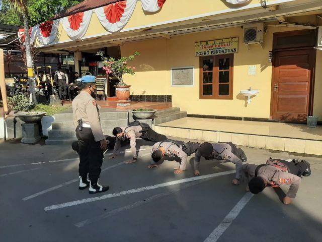 Polisi Lumajang Mokong tak Pakai Masker Dijatuhkan Sanksi Push Up