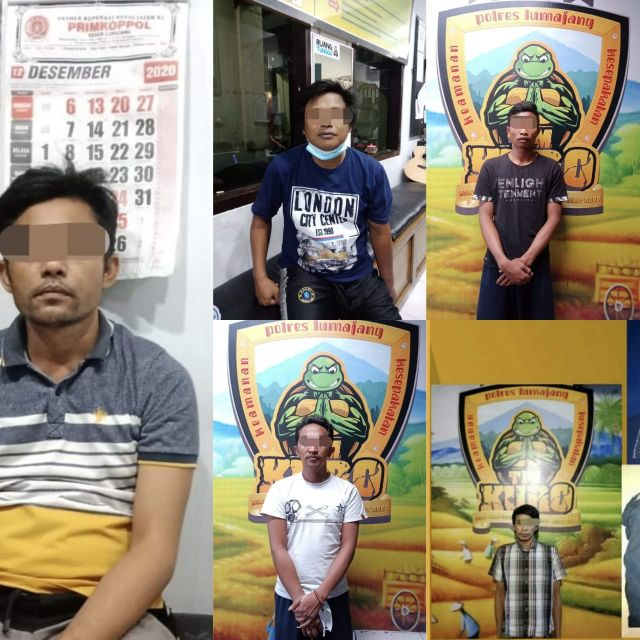 Satreskoba Polres Lumajang Amankan 5 Pengedar Sabu