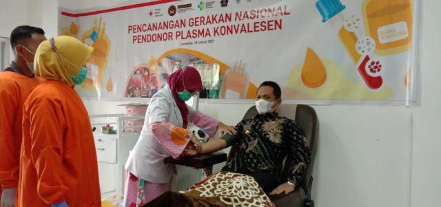 Bupati Lumajang Donor Plasma Darah untuk Pasien Covid19