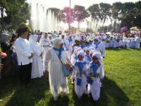 Kenalkan Sejak Dini Rukun Islam, Ratusan Siswa TK-RA Ikuti Manasik Haji Muslimat NU