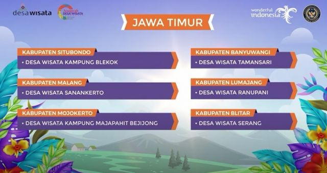 Desa Ranupani Lumajang Masuk 50 Terbaik Desa Wisata Indonesia 2021