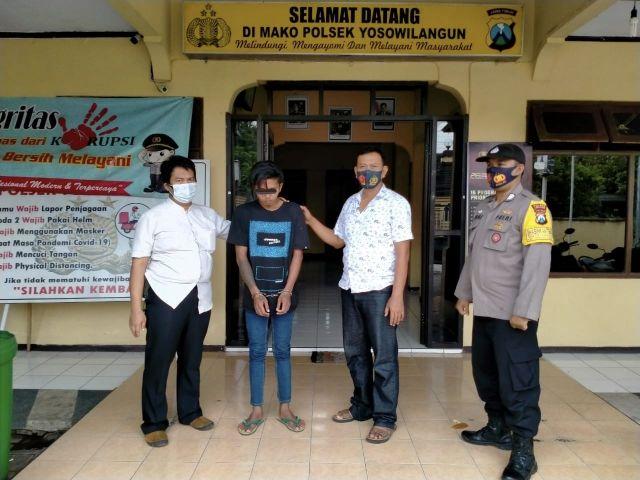 Amir Pensiun Jambret Malah Nekat Curi Motor di Sawah Lumajang