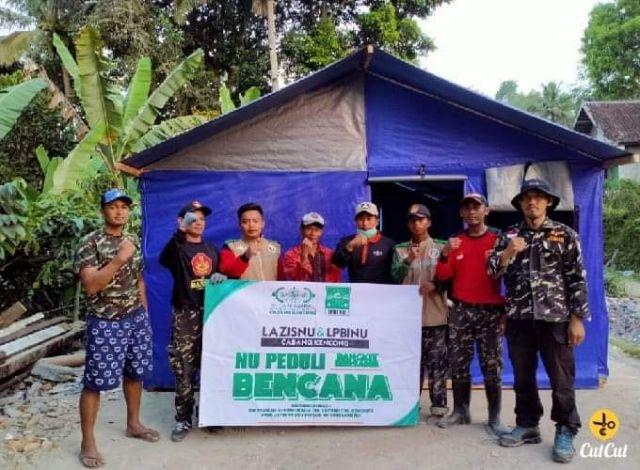 LPBI dan Banser NU Kencong Jember Bangun  Hunian Korban Gempa Lumajang