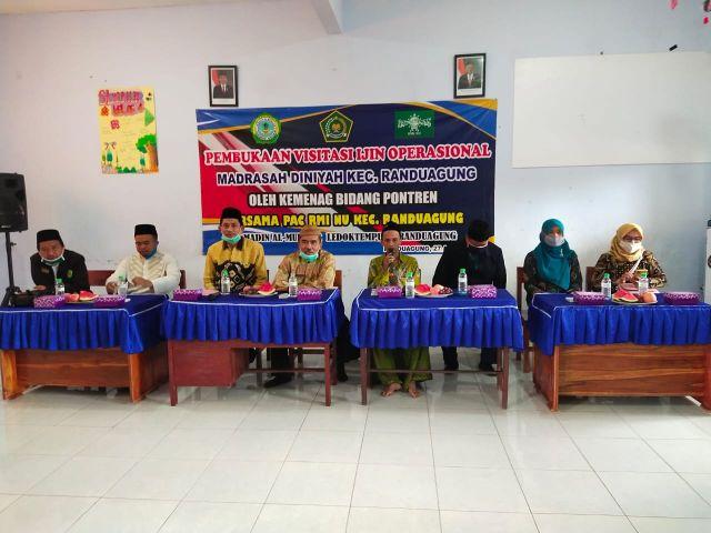 PAC RMI NU Randuagung Kawal Visitasi Kemenag Untuk Madin dan TPQ