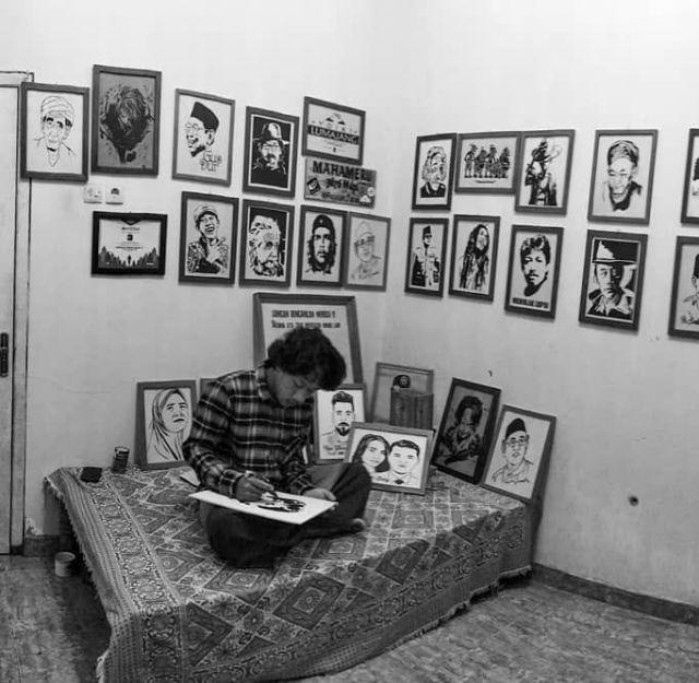 Lukisan Abu Jerami Sendy Agus Penanggal Lumajang Mulai Dikenal