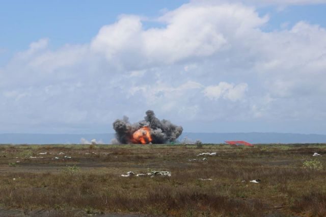 39 Pesawat Tempur TN AU Bombardir Musuh di Pandanwangi Lumajang