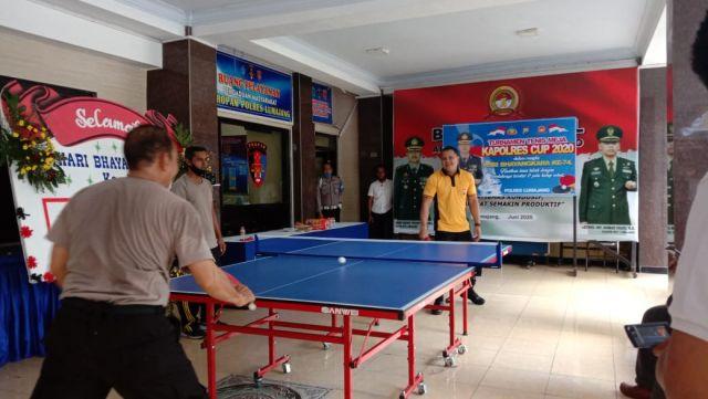 Polres Lumajang Gelar Turnamen Tenis Meja Cup 2020