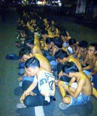 Razia Cipkon di Jalan Slamet Riadi, Polisi Amankan Ratusan Pemuda dan Sepeda Motor Balap Liar